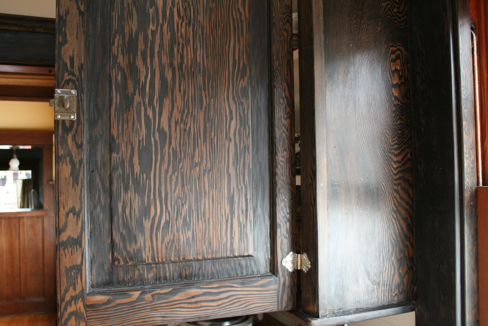 Ebony Stain On Pine My ebony stained woodwork