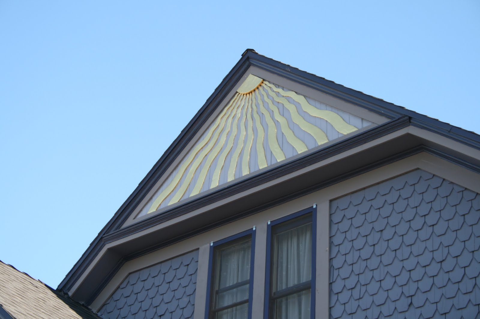 Pictures of sunburst pediments joy studio design gallery Gable accents
