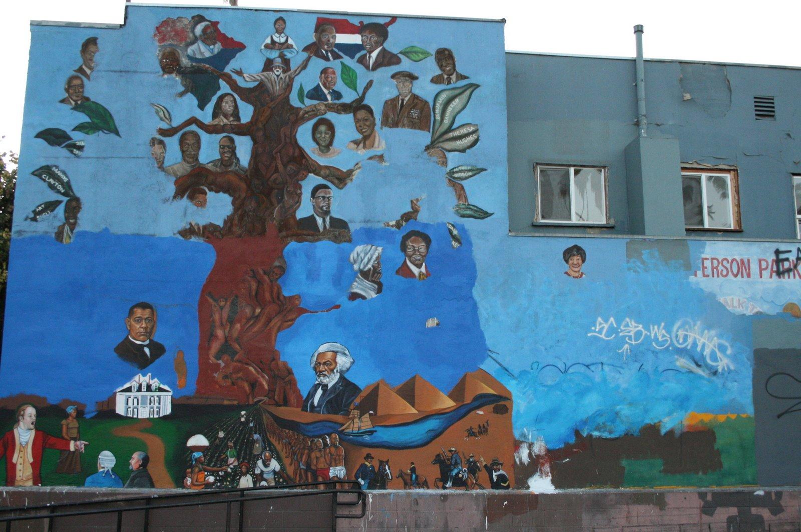 Recentering el pueblo the second obama mural for Malcolm x mural